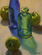Bottles and Green Apples