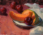 Cantaloupe and Plums